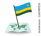 map with flag of rwanda... | Shutterstock .eps vector #1265989210