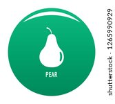 pear icon. simple illustration... | Shutterstock .eps vector #1265990929