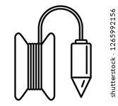 gravity line tool icon. outline ... | Shutterstock .eps vector #1265992156