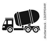 cement truck icon. simple... | Shutterstock .eps vector #1265993449