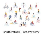 collection of people riding... | Shutterstock .eps vector #1265996899