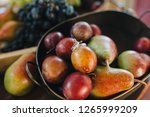 wedding rings are in the plate... | Shutterstock . vector #1265999209