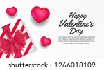 happy valentine day banner... | Shutterstock .eps vector #1266018109