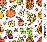 fruits vector illustration.... | Shutterstock .eps vector #1266019900