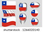 flag of chile | Shutterstock .eps vector #1266020140