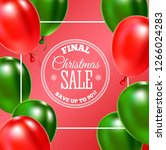 christmas sale banner. ... | Shutterstock . vector #1266024283