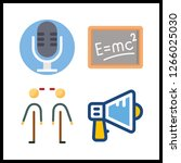 4 announcement icon. vector... | Shutterstock .eps vector #1266025030