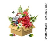 Image Of Fruits In A Box On A...