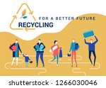 recycling for a better future   ... | Shutterstock .eps vector #1266030046
