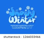 vector cute card snowy winter... | Shutterstock .eps vector #1266033466