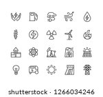 electric energy linear icons... | Shutterstock .eps vector #1266034246