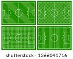 set of four football fields... | Shutterstock .eps vector #1266041716