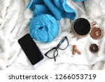 knitting in the process of... | Shutterstock . vector #1266053719