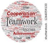 vector conceptual teamwork... | Shutterstock .eps vector #1266054133