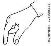 grabbing hand. man's hand... | Shutterstock .eps vector #1266056833