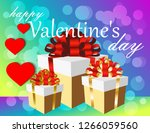 valentine's day greeting card   Shutterstock .eps vector #1266059560