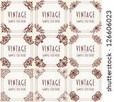 set of decorative vintage frame | Shutterstock .eps vector #126606023