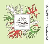 background with tosaka ... | Shutterstock .eps vector #1266060700
