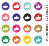 like sign icon set. simple... | Shutterstock .eps vector #126606158
