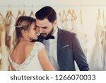 beautiful model wedding couple... | Shutterstock . vector #1266070033