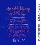 elegant calligraphic brush... | Shutterstock .eps vector #1266071713