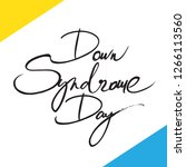 down syndrome day   vector... | Shutterstock .eps vector #1266113560