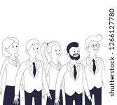 group of friends cartoon | Shutterstock .eps vector #1266127780