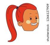 young woman cartoon | Shutterstock .eps vector #1266127909