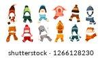 collection of children s winter ... | Shutterstock .eps vector #1266128230