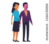 young people couple | Shutterstock .eps vector #1266130006