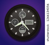 modern analog watch  | Shutterstock .eps vector #1266134056