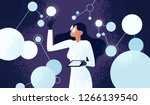 female scientist in lab coat... | Shutterstock .eps vector #1266139540