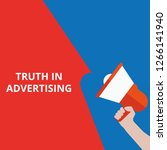text truth in advertising.... | Shutterstock .eps vector #1266141940