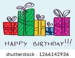 happy birthday greeting card... | Shutterstock .eps vector #1266142936
