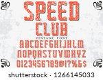 vintage 3d font handcrafted... | Shutterstock .eps vector #1266145033