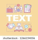 delivery word concepts banner.... | Shutterstock .eps vector #1266154036