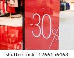 sale. shop window with 30... | Shutterstock . vector #1266156463