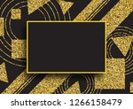 golden geometric shapes on a... | Shutterstock .eps vector #1266158479