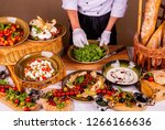 preparation of salad and... | Shutterstock . vector #1266166636
