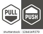 push pull icon. vector... | Shutterstock .eps vector #1266169270