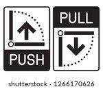 push   pull door icon. vector... | Shutterstock .eps vector #1266170626