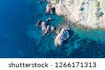 aerial drone overhead view of... | Shutterstock . vector #1266171313