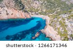 aerial drone overhead view of... | Shutterstock . vector #1266171346