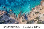 aerial drone overhead view of... | Shutterstock . vector #1266171349
