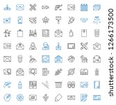 contour icons set. collection... | Shutterstock .eps vector #1266173500