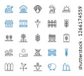 rural icons set. collection of... | Shutterstock .eps vector #1266174559