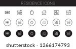 residence icons set. collection ... | Shutterstock .eps vector #1266174793