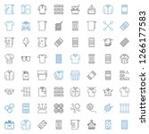 cotton icons set. collection of ... | Shutterstock .eps vector #1266177583