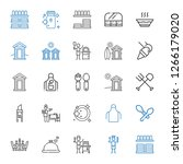 knife icons set. collection of... | Shutterstock .eps vector #1266179020
