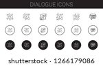 dialogue icons set. collection... | Shutterstock .eps vector #1266179086